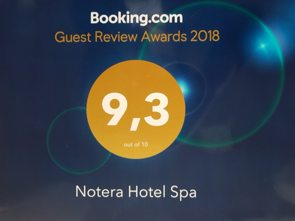 Notera Hotel SPA booking 1024x768 - Guest Review Award 2018 dla Notera Hotel SPA!